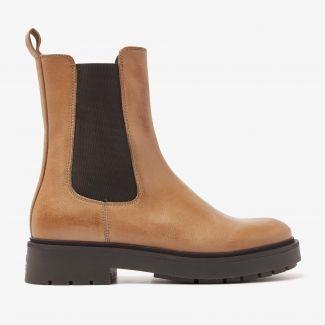Alexis Zarah bruine chelsea boots